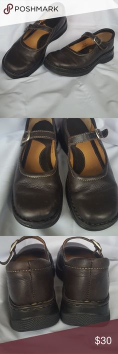 Born mules Born, Brown, Mary Jane style mules. Size 8. Born Shoes Mules & Clogs
