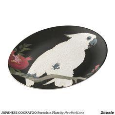 JAPANESE COCKATOO Porcelain Plate