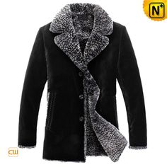 Versatile shearling fur coats black for men got you covered this winter, soft yet rugged shearling fur and abundance lamb fur interior keep out the cold! Indulge yourself with this sheepskin winter coat!