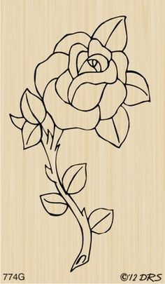 Fantastic Images single rose drawing Suggestions With this class, we can check out precisely how to get some sort of rose using pastels. Were utilizing pastels in addit Wood Burning Patterns, Wood Burning Art, Old School Rose, Rose Stencil, Image Chat, Plant Drawing, Single Rose, Rose Embroidery, Stained Glass Patterns