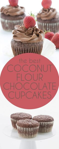 These tender coconut flour chocolate cupcakes are a keto favorite the whole family will love. Sugar-free THM Banting recipe. via @dreamaboutfood