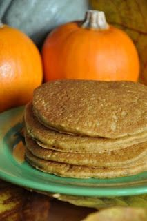 Gluten-Free Pumpkin Pancakes~ Toddler is loving these, next time I might cut back on the milk a little to make a thicker pancake, otherwise these are awesome, some of the best GF pancakes I've had!