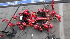 Ferrari Pit Stop Perfection – 2013 Melbourne Formula One. This was sent to me by my buddy, Hubie Kerns! Video Team, Ferrari F1, Indy Cars, Cool Eyes, Teamwork, Nascar, Race Cars, Melbourne, Christmas Wreaths