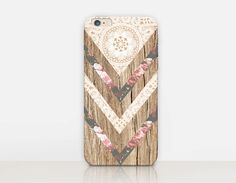 Bohemian Wood Print Phone Case iPhone 7 Case iPhone von CRCases
