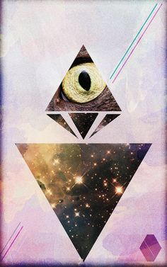 Galaxeye by Edson Sampaio http://be.net/edsamp - Abstract - universe - triangle - triangulo - watercolor - design -