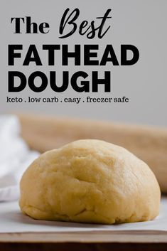 Keto Fathead Dough Recipe - Fathead dough makes the best keto pizza crust. This recipe makes a chewy keto crust yet it is crisp on the outside. Plus it is easy to make and freezer safe. Fat Head Pizza Crust, Fat Head Dough, Pizza Dough, Fat Head Bread, Keto Fat, Low Carb Keto, Low Carb Recipes, Pizza Recipes, Bread Recipes