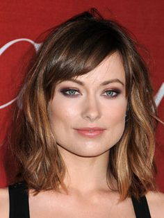 Olivia Wilde shoulder length with fringe