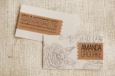 DIY biz cards... how lovely! By Joy Ever After x