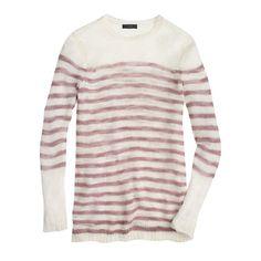 Open-knit sweater in stripe : Pullovers | J.Crew