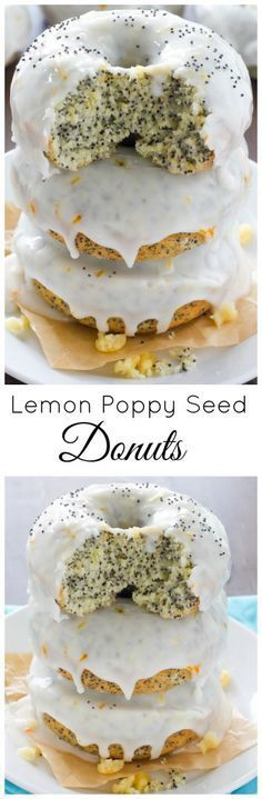 Lemon Poppy Seed Doughnuts Ingredients the donuts: 1 1/4 cups all purpose flour 1 1/4 teaspoons baking powder 1/2 teaspoon salt 3 tablespoons poppy seeds 1/2 cup granulated sugar 1 tablespoon lemon zest 2 1/2 tablespoons unsalted butter, melted 1 large egg, at room temperature 1 teaspoon vanilla extract 1/4 cup milk (whole, reduced fat, skim, or almond should work fine here) For the glaze: 1 1/4 cups confectioners' sugar 1-2 tablespoons lemon juice Instructions
