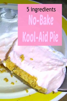 Sweet Desserts, Easy Desserts, Delicious Desserts, Kool Aid Pie Recipe, Koolaid Pie, Catering Food Displays, Fruit Displays, Banana Cream Cheesecake, Summer Pie