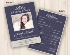 Funeral Service Templates Word Cool Custom Funeral Program Template Microsoft Publisher Word  Memorial .