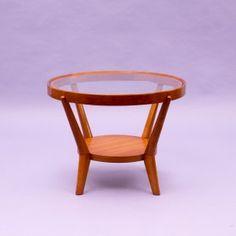 Velvet-Point - coffeetables 1940s coffee table, Kozelka & Kropacek, light oak - Karlsruhe