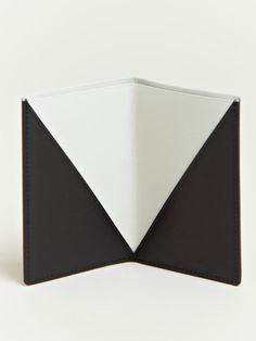 Isaac Reina Isaac Reina Mens Diagonal Folded Card Holder in Black for Men - Lyst