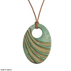 Energy Wave Ceramic Necklace. Hand Made in the sunny beach town of Ventura CA by 2 local mom's. Awesomeness :)