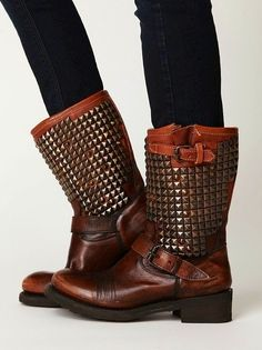 #studded leather #boots
