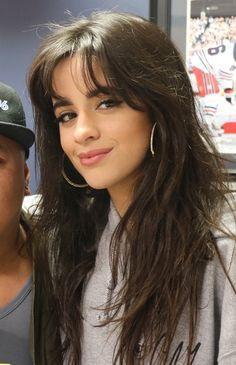 Camila Cabello (She loves control) Wispy Bangs, Long Hair With Bangs, Camila And Lauren, Honey Hair, Aesthetic Hair, Dream Hair, Grunge Hair, Nicki Minaj, Hairstyles With Bangs