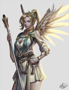 Mercy fan art   overwatch, angel, gaming characters #overwatchMercy #mercy