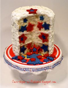 """Once Upon A Pedestal: Hidden Stars """"Let Freedom Ring"""" Cake"""