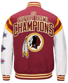 205c5da7c1d Authentic Nfl Apparel Men's Washington Redskins Home Team Varsity Jacket -  Red XL