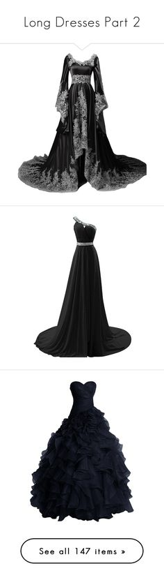 """Long Dresses Part 2"" by nunes-mirella ❤ liked on Polyvore featuring dresses, gowns, long dress, long sleeve evening dresses, formal gowns, long sleeve evening gowns, long sleeve ball gowns, vintage gowns, cocktail prom dress and long cocktail dresses"