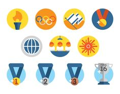 Really love these clean Olympic icons. Very sharp.
