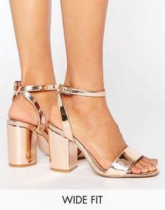Sandalias de tacón de corte ancho HERON de ASOS