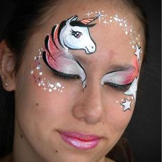 Learn how to face paint a unicorn step-by-step with our simple beginners Unicorn Face Paint Tutorial. We make face painting easy and fun! Face Painting Unicorn, Adult Face Painting, Body Painting, Easy Face Painting, Face Painting Tutorials, Face Painting Designs, Princess Face Painting, Animal Face Paintings, Mime Face Paint