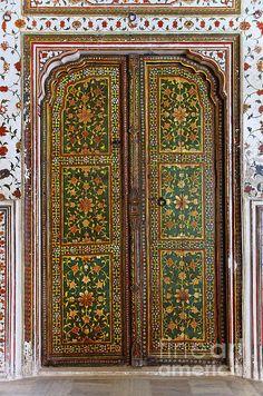 Decorated Door Inside Junagarh Fort At Bikaner In India by © Robert Preston, via fineartamerica.com