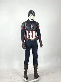 This Avengers: Endgame Captain America Cosplay Costume includes collar, vest, shirt, pants, strap, belt, gloves, shoe covers. The mask is extra. It is good choice for your Halloween, parties, Marvel lovers and so on. Welcome to buy it with free shipping.