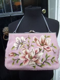Romantic Floral Needlepoint Lavender by worldmarketproductio, $98.00