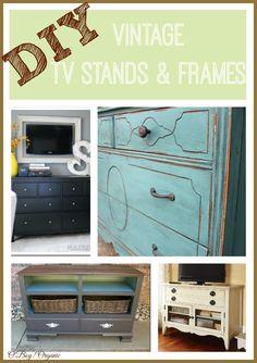 Ideas for DIY Vintage TV Stands & Frames