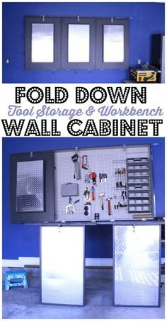 Tri Folding Work Bench and Storage - Chaotically Creative