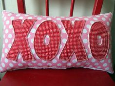 Xoxo Craft Ideas For Valentines Days With Valentine's Day Hugs And Kisses Xoxo Pillow Handmade