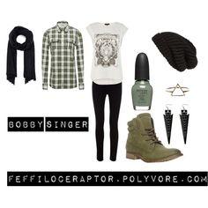 """Bobby Singer"" by feffiloceraptor on Polyvore #Supernatural #casual #cosplay"