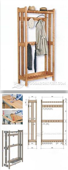 Hall Tree Plans - Furniture Plans and Projects   WoodArchivist.com