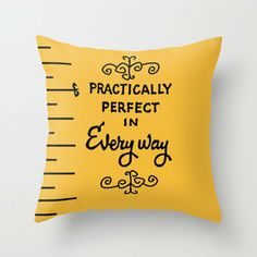 Throw Pillows featuring Practically perfect in every way mary poppins measuring tape. by studiomarshallarts Mary Poppins, Disney Home Decor, Disney Crafts, Disney Diy, My New Room, My Room, Girl Room, Disney Pillows, Disney Rooms