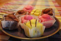 { Yellow Pink & Brown Mr Kipling Cakes - Wedding Favour Idea }