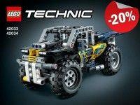 De coole LEGO Technic Recordbreker met gestroomlijnd, aerodynamisch design heeft een getinte cockpit en een oersterke pull-back motor.