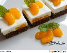 Mandarinkové řezy s kefírem Czech Recipes, Russian Recipes, Ethnic Recipes, Sweet Cakes, Kefir, Sweet Life, Baked Goods, Cake Recipes, Cake Decorating