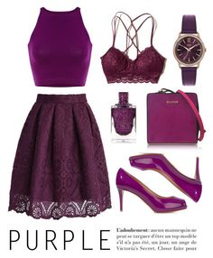 Purple!! by freakout3 on Polyvore featuring polyvore fashion style Hollister Co. Giuseppe Zanotti Balmain Henry London clothing