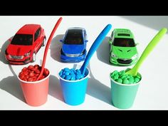 carbot car m&m color cup spoon - YouTube