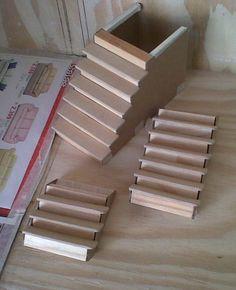 Las tres escaleras de la Mansión. Para la confecciónde las escaleras de la Mansión, el procedimiento fue casi el mismo. A continuaci...