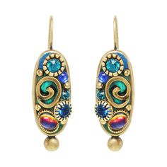 Blue Emerald earrings from Michal Golan Jewelry ($70) ❤ liked on Polyvore featuring jewelry, earrings, emerald jewellery, emerald earrings, blue earrings, blue jewelry and emerald jewelry