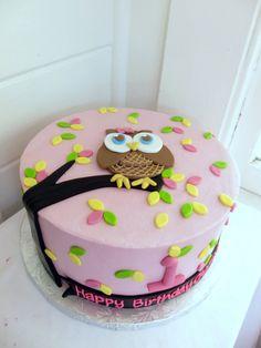 Stef Owl cake for shower