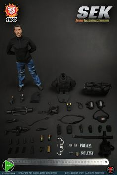 onesixthscalepictures: Soldier Story STGCC Exclusive GERMAN SEK (Spezial einsatz kommandos) : Latest product news for 1/6 scale figures (12 inch collectibles) from Sideshows Collectibles, Hot Toys, Medicom, TTL, Triad Toys, Enterbay and others.
