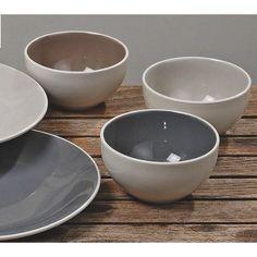 Boltze 5455700 Müsli Schüssel Keramik Schale Macy hell Porzellan
