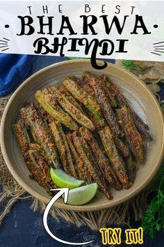 Gujarati Recipes, Indian Food Recipes, Gujarati Food, Fried Fish, Okra, Food Videos, Asparagus, Green Beans, Food To Make