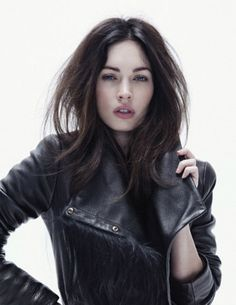 Megan Fox - jacket and hair