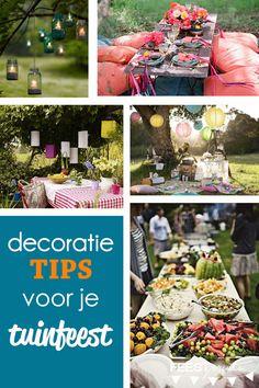 decoratie tips voor je tuinfeest